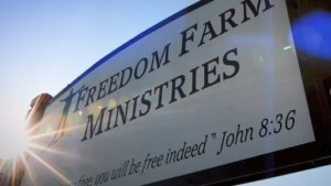 freedom farm ministries sign